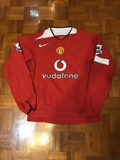 MANCHESTER UNITED 2004-06 LONG SLEEVE EPL MATCH PLAYER ISSUE SHIRT RONALDO
