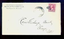 New Paynesville MN Cancel on Cover #220 Stearns County DPO (1891-1905)  MN686