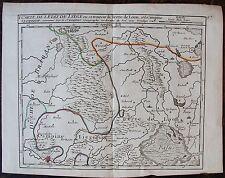 CARTE DE L'ETAT DE LYEGE ou se trouvent la Terre de Loen et la Campine Lyegoise.