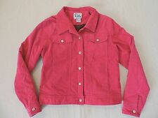 LILLY PULITZER Women's Sz L Hot Pink Corduroy Coat Jacket EXCELLENT