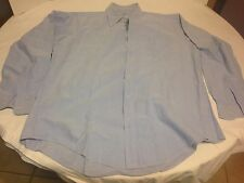 Mercer and Sons Blue OCBD Oxford Cloth Button Down 17 1/2x37 Large Made in USA