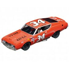 CARRERA 27521 FORD TORINO TALLADEGA NEW EVOLUTION 1/32 SLOT CAR IN DISPLAY CASE