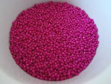 50g 2mm 11/0 Glass Seed Beads - FAUX PEARL HOT PINK ( Free Postage Australia )