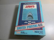 RARE 1975 JAWS MOVIE POSTER PUZZLE - HUGE 26x40 Complete - A+ Cond - 500 pieces