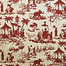 Waverly CANTON BAZAAR LACQUER Oriental Toile Drapery Upholstery Fabric 673320
