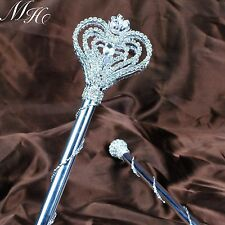 Heart Rhinestones Scepter Wand Magic Fairy Double Side Pageant Wedding Costumes