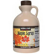 Kirkland Signature  Maple Syrup 1L /100% Pure/33.8 FL OZ/Grade a Dark