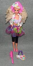 Barbie mit Hut Vintage 80er 90er Jahre Puppe Blond Capri Hose