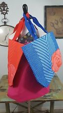 Lot of 3 Lancome Tote Bags Red w/Red Rose Blue w/Pink Rose Pink w/Small Bag New