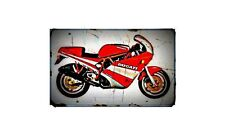 1989 90 ducati 750 sport Bike Motorcycle A4 Retro Metal Sign Aluminium