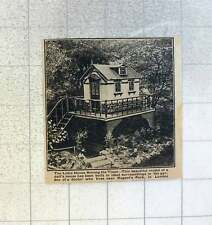 1921 Beautiful Model Of A Dolls House In The Garden Of Dr Living Near Regents Pa