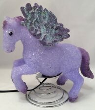 RARE Vintage Rubberized Purple Pegasus Electric Lamp, Night Light Collectors
