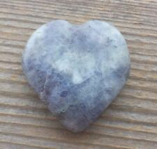 NATURAL IOLITE GEMSTONE PUFFY HEART 30-35mm