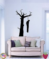 Wall Stickers Vinyl Suicide Man Hanging Himself On A Tree Branch Horror (z1685)
