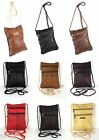 Real Leather Shoulder Mini Small Neck Purse Cross Body Tote Travel Satchel Bag