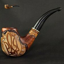 """HAND CARVED, EXCLUSIVE REAL TOBACCO SMOKING PIPE   """" Trident """"    PEAR"""
