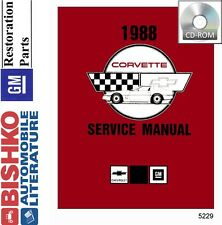 1988 Chevrolet Corvette Shop Service Repair Manual CD