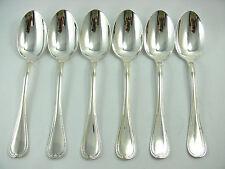 Christofle modèle Malmaison, 6 cuillères de table, excellent état.