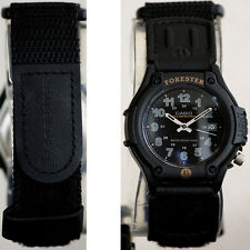 Casio Analog Black FORESTER Watch with Light FT-500WVB-1BV Cloth Band 100M New
