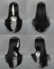 2016 Fashion New Women's Black Cosplay Straight Hair Full Natural Wigs+Wig Cap