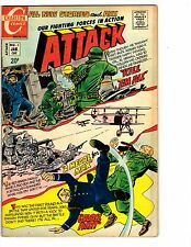 3 Attack Charlton Comic Books # 3 6 8 Our Fighting Forces in Action War J129