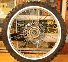 2006 SUZUKI RM250 2-STROKE  FRONT WHEEL ASSEMBLY  (MISSING TWO SPOKES)