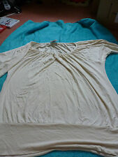 MARKS AND SPENCER LADIES BUTTERMILK 3/4 LENGTH SLEEVED TOP SIZE 24 NEW WITH HOLE