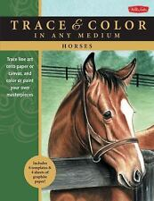 Horses: Trace line art onto paper or canvas, and color or paint your own masterp