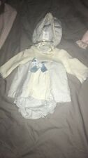 Baby Girls Spanish Outfit And Bonnet 0-1 Month