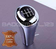 BMW MANUAL 6 SPEED LEATHER & CHROME GEAR KNOB SHIFT E60 E46 E39 E90 E92 E91 Z4