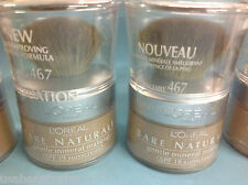 LOT OF 3 - L'Oreal Bare Naturale Mineral Makeup - SAND BEIGE #467 NEW .