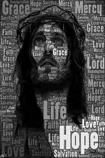 Jesus Christ Motivational Inspirational Poster Silk Fabric 12x18 Inch Print 8