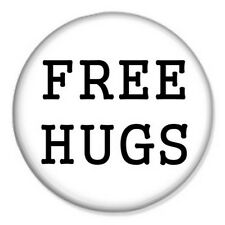 "Free Hugs 25mm 1"" Pin Badge Button Funny Joke Emo Novelty"