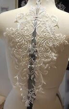large piece ivory floral lace applique bridal wedding bolero lace motif By pcs
