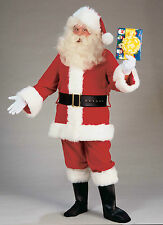 DELUXE PLUSH SANTA SUIT ADULT CHRISTMAS HOLIDAY COSTUME SIZE XXL(XX-LARGE)