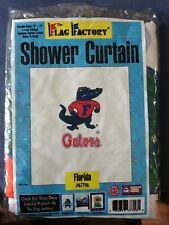 Florida Gators Shower Curtain; Official NCAA 72'' x 72'' Nylon Custom Stitched
