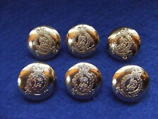6 X NEW ADJUTANT GENERALS CORPS 19MM ANODISED GOLD BUTTONS IDEAL JACKET/BLAZER