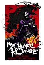 My Chemical Romance Melbourne 07 Limited Edition Concert Poster Art Rhys Cooper