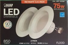 2 x Feit 5-6 inch LED Recessed Retrofit Kit  (1-2pack) 75w replacement-Dimmable
