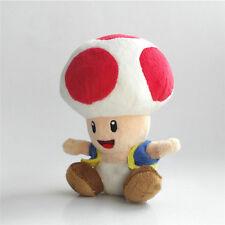 """Super Mario Bros. U Plush Red Toad Soft Toys Stuffed Animal Dolls Teddy 7""""  #GCT"""
