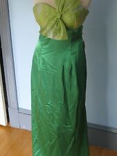 NIKA Size 10 GREEN GOWN longDress fun sexy strapless