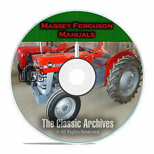 Massey Ferguson Shop Service Manuals, MF35 MF135, MF150, MF165, 34 total, CD F53