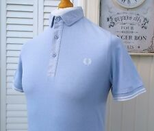 Fred perry fumée bleu oxford twin tipped polo-s/m-ska mod scooter casuals