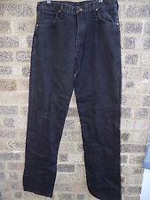 "vintage black denim WRANGLER jeans 13MWZWK  32 x 36"""