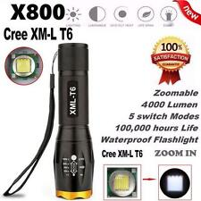 G700 X800 LED Tactical Military Cree XM-L T6 Flashlight Torch Waterproof Zoom