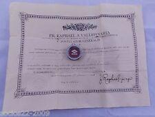 Relic reliquary B. Maria Martinengo V with document 1935