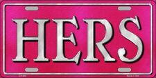 His & Hers Combo Metal Novelty License Plate Car Truck Auto Tag