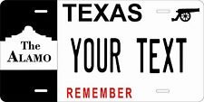 Texas Alamo Tag License Plate Personalized Auto Car Custom VEHICLE OR MOPED