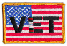 Motorcycle Jacket Embroidered Patch - United States Flag (Afghanistan Vet Flag)