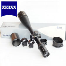 Zeiss Conquest Rifle Scope 5-25x50mm Illuminated Mil-Dot Reticle+Sunshade+Mounts